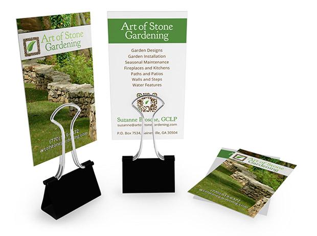 business cards art of stone gardening - Garden Design Business Cards