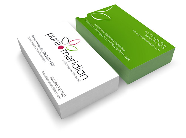 Business cards stark raven design business cards pure meridian reheart Gallery