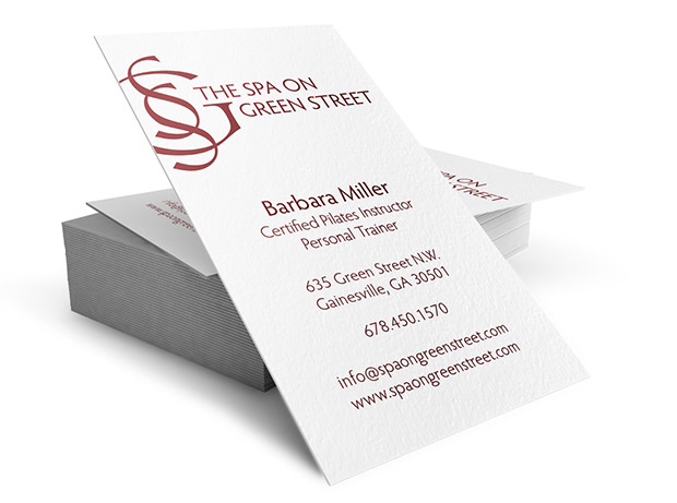 Business cards stark raven design business cards spa on green street reheart Gallery