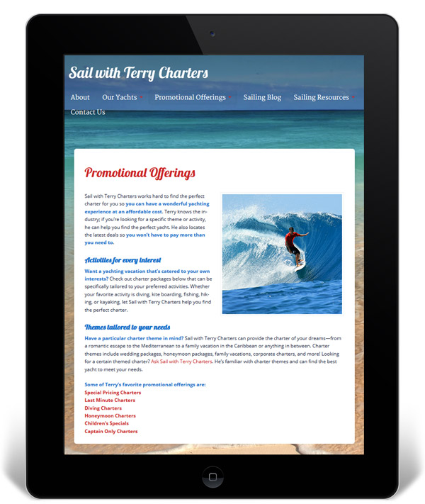 iPad Sail with Terry